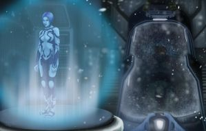 Cortana Waits by AshleyKayley