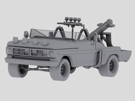 Mad Max 2 Snake Tow Truck 3D MODEL by badcop69
