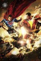 Superman / Shazam Vs Black Adam by Bryanzap