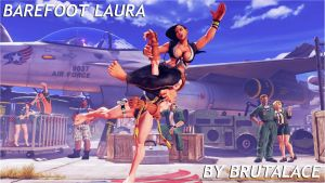 Barefoot Laura By BrutalAce by BrutalAce