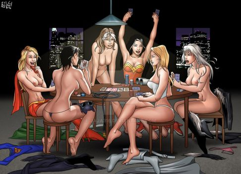 superhero strip poker by Jaja316