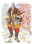 Heavily armed Cossack of Khabarov's expedition. by Nikkolainen