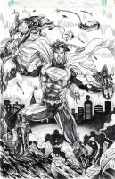 SUPERMAN UNBOUND pencils by jey2dworld