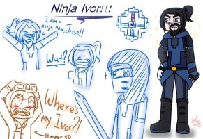 Minecraft Story Mode S2 : Ninja Ivor Reference by TheMaroonLightning