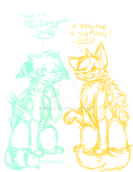 .:/Turtle Foxes/:. .://WIP DYIN//:. by KitsuArtsy