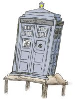 Doctor Who Experience (article) - croquis Tardis by LezardJoyeux