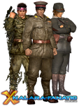 DOA5LR Imperial Japanese Soldiers for XNALara/XPS by XPS-Fanatic
