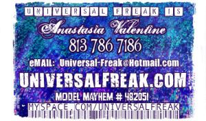 Old UF Business Card Back by CelestialPearl