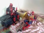 Amazing Domestic lives of SpideyPool: Day 171 by HTF-ADTI-MLP100606