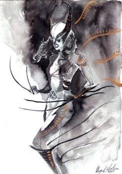 X23 - Thought Bubble commission 2017 by Abz-J-Harding