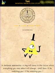 Bill Cipher Journal Skin by RavenluvsSesshomaru
