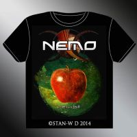 NEMO - le ver dans le fruit - T-SHIRT Design by stan-w-d