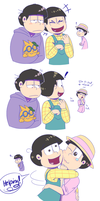 Sibling rivalry - Osomatsu-san by Plixs-1