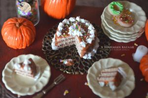 Chocolate Halloween Cake - Halloween 2012 by TheMiniatureBazaar