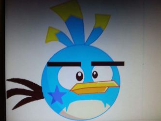 Spike bird in angry birds toons by bluejay5678
