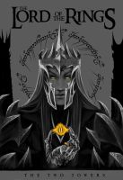 The Dark Lord. LOTR book cover by the-ALEF