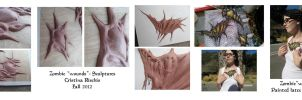 Zombie wounds - Sculpture and Appliance by Riskyo