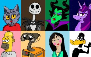 MY favorite animated characters by Romethehybrid