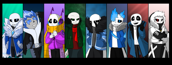 The eight members of the Abyss team by Meta-Kaz