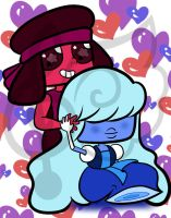 Chibi Sapphire and Ruby by MissJuxtaposition
