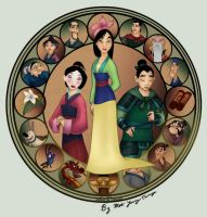 Mulan stained glass colored by monsan