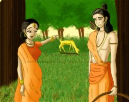 Sita and the Golden Deer by BoricuanKitty