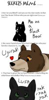 Seeker bears meme by dancingfoxbird