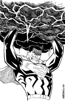 SUPERMAN BEING SUPER by drawhard