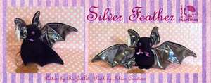 Silver Feather Bat by Ishtar-Creations