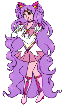 Sailor Neo Pink Moon by CaptainSpaceout