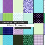 Micro Patterns Photoshop and GIMP Brushes by redheadstock
