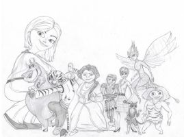 DreamWorks Ladies by LaDeary