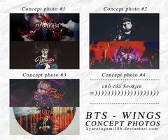 PSD FREE // BTS WINGS CONCEPT PHOTO by KyaraSagami186