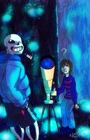 Sans you little shit by Waterloggedart