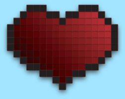 Pixel Heart by capdevil13