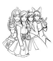 Rwby- SKETCH by Boobulon