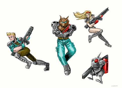 Contra: Hard Corps by crowpop