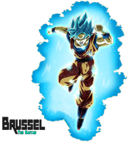 Super Saiyan Blue Goku (Universal Survival) Aura by BrusselTheSaiyan