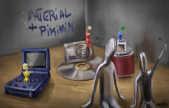 Material study and pikimin by Markdotea