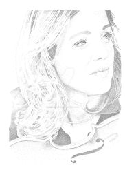 Isabelle van Keulen (Stippling) by JCE-Artworx