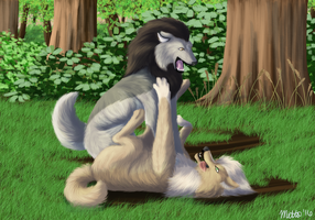 Playful afternoon: Commission for Fayolin by Bimisi