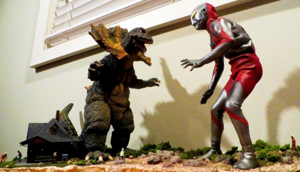 Ultraman VS Jirass Finished! by Legrandzilla