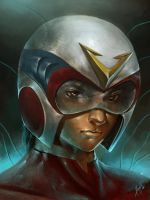 steve armstrong (voltes v) by wizyakuza