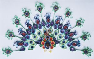 Quilled Peacock 2 by LeonieIsaacs