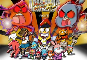 Amazing World of Gumball- Super Street Fighter 4 by xeternalflamebryx