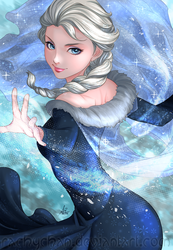 [Collab with Artgerm] The Ice Queen by RachyChan