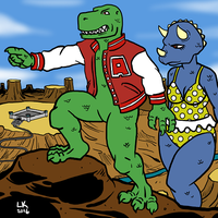 Allo and Cera by LarryKingUndead