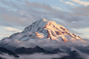 16 Mt Rainier study by LadyChamomile