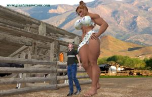 Giantess Amazons - Preview - Farm Family by Falcon3D