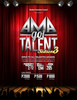 AMA Got Talent Poster by jlgm25